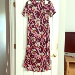 Dress floral who what wear line size s nwot